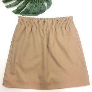 EUC J. Crew Tan/ khaki Sidewalk Mini Skirt